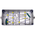 Spinal screw rod internal fixation instrument kit