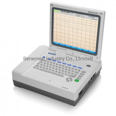 12 Inch Digital Hospital Electrocardiograph 12 Channel ECG Machine