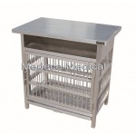 Animal Devices Stainless steel Cage clinic Model Mez-08
