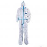 Disposable non-woven protective gown