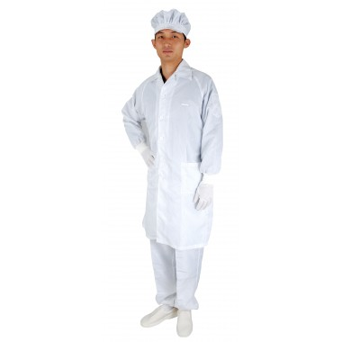 J1 Antistatic Smock (with collar and four-hole button)