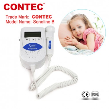 Real manufacturer CONTEC CE FDA  portable Baby heart monitor pocket  fetal Doppler